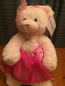 Kayla's ballerina wish was selected by the Make-A-Wish Foundation to become the Kayla Bear.